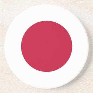 Práctico de costa de la bandera de Japón Posavaso Para Bebida