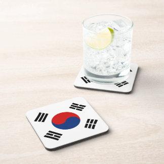 Práctico de costa de la bandera de la Corea del Posavasos