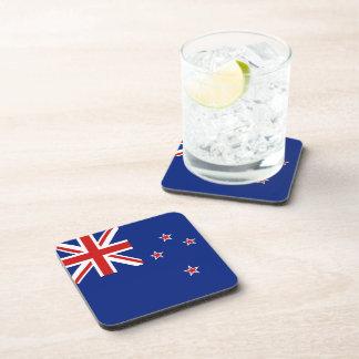 Práctico de costa de la bandera de Nueva Zelanda Posavasos De Bebida