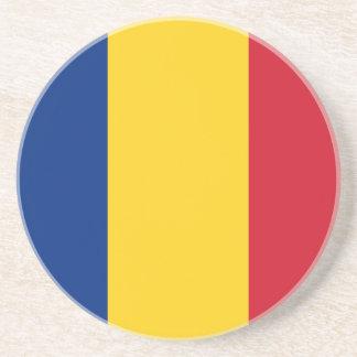Práctico de costa de la bandera de Rumania Posavasos Diseño