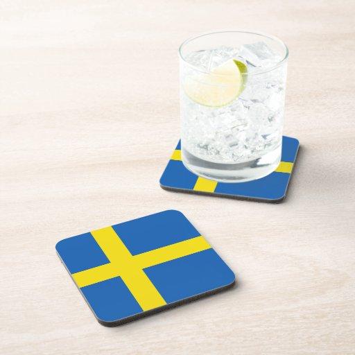 Práctico de costa de la bandera de Suecia Posavaso