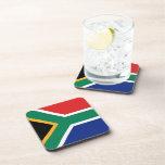Práctico de costa de la bandera de Suráfrica Posavasos De Bebida