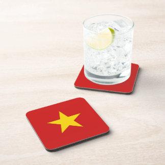 Práctico de costa de la bandera de Vietnam Posavasos De Bebidas