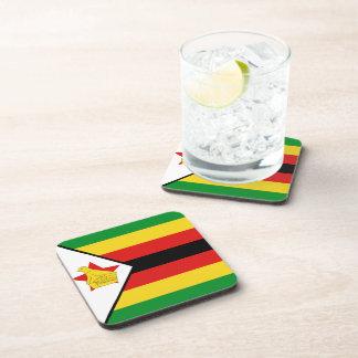 Práctico de costa de la bandera de Zimbabwe Apoyavasos