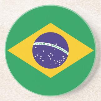 Práctico de costa de la bandera del Brasil Posavasos Cerveza