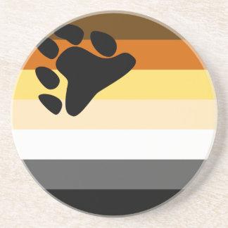 Práctico de costa de la bandera del oso posavasos diseño