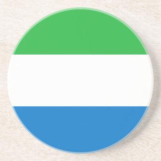 Práctico de costa de la bandera del Sierra Leone Posavasos Cerveza