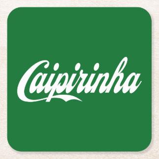 Práctico de costa de la bebida de Caipirinha Posavasos De Cartón Cuadrado