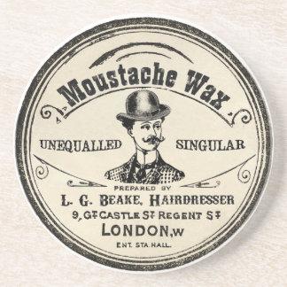 Práctico de costa de la bebida de la cera del bigo posavasos personalizados