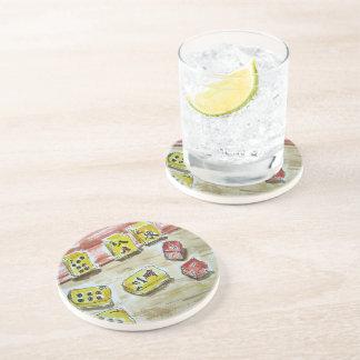 Práctico de costa de la bebida de la piedra posavaso para bebida