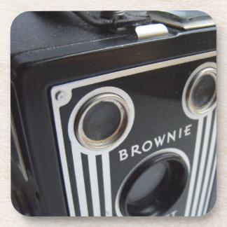 Práctico de costa de la cámara de caja del vintage posavasos de bebida