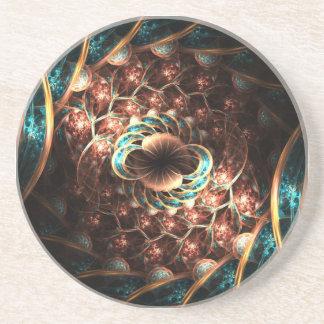 Práctico de costa de la célula del fractal posavasos manualidades