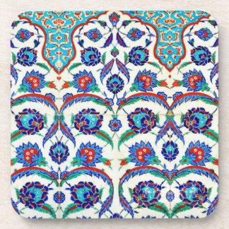 práctico de costa de la cerámica del iznik posavasos