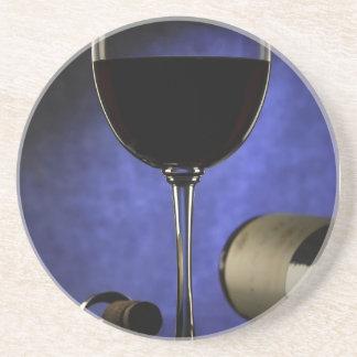 Práctico de costa de la copa de vino posavaso para bebida