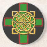 Práctico de costa de la cruz céltica posavasos para bebidas