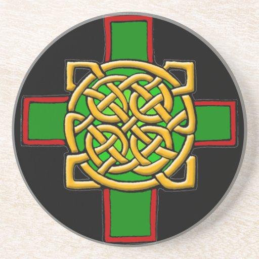 Práctico de costa de la cruz céltica posavasos personalizados