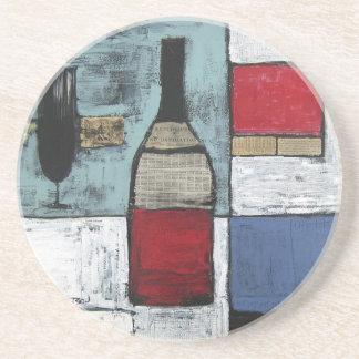 Práctico de costa de la degustación de vinos posavaso para bebida