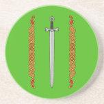 Práctico de costa de la espada y de la piedra aren posavasos manualidades