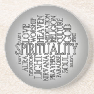 Práctico de costa de la espiritualidad de la posavasos personalizados