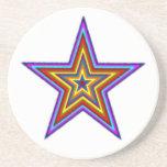 Práctico de costa de la estrella del arco iris posavasos diseño