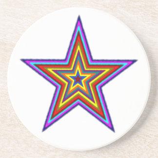 Práctico de costa de la estrella del arco iris posavasos personalizados