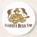 Práctico de costa de la fan de música country posavasos cerveza