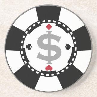 Práctico de costa de la ficha de póker posavasos diseño