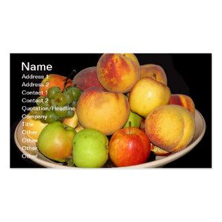Práctico de costa de la fruta tarjeta de visita