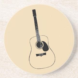 Práctico de costa de la guitarra acústica posavasos personalizados