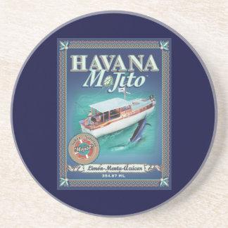 Práctico de costa de La Habana Mojito Posavasos Diseño