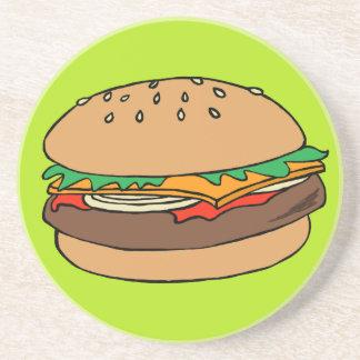 Práctico de costa de la hamburguesa posavasos diseño