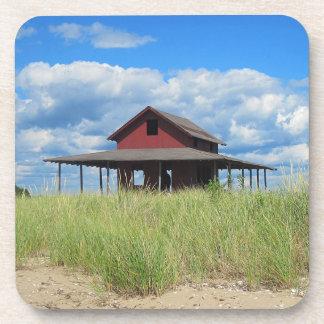 Práctico de costa de la isla de la hierba posavasos de bebidas