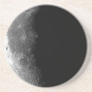 Práctico de costa de la luna cuarta posavasos personalizados