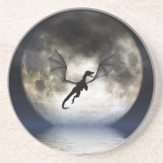 Práctico de costa de la luna del dragón posavasos de arenisca