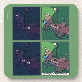 Práctico de costa de la luz de la noche de la vaca posavasos