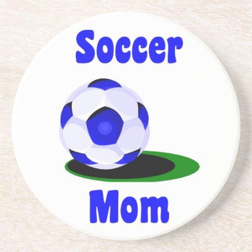 Práctico de costa de la mamá del fútbol posavasos personalizados