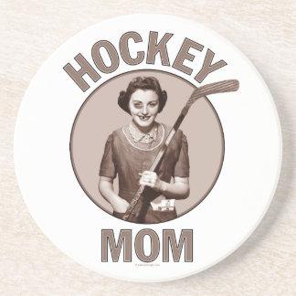 Práctico de costa de la mamá del hockey posavasos diseño