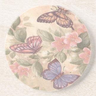 Práctico de costa de la mariposa posavasos diseño