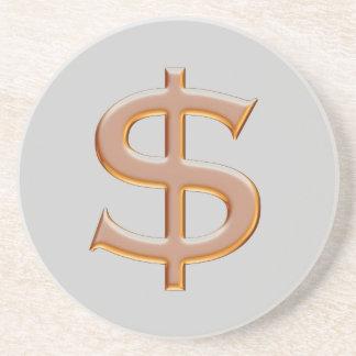 Práctico de costa de la muestra de dólar posavasos para bebidas