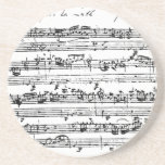 Práctico de costa de la música de Bach Posavasos Diseño