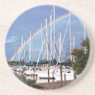 Práctico de costa de la navegación del arco iris posavaso para bebida