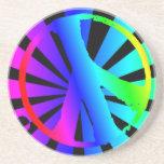Práctico de costa de la paz del arco iris posavasos diseño