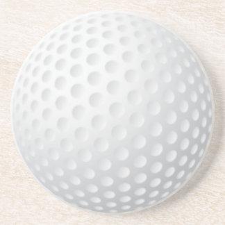 Práctico de costa de la pelota de golf posavasos personalizados