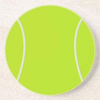 Práctico de costa de la pelota de tenis posavaso para bebida