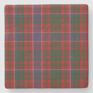 Práctico de costa de la piedra de la tela escocesa posavasos de piedra
