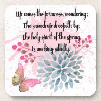 Práctico de costa de la poesía de la primavera, posavasos