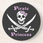 Práctico de costa de la princesa del pirata posavaso para bebida