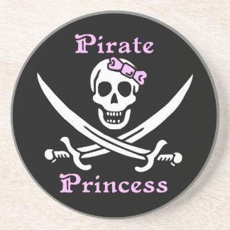 Práctico de costa de la princesa del pirata posavasos de arenisca