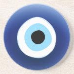 Práctico de costa de la protección de mal de ojo posavasos diseño