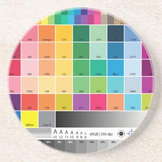 Práctico de costa de la prueba de color posavasos para bebidas